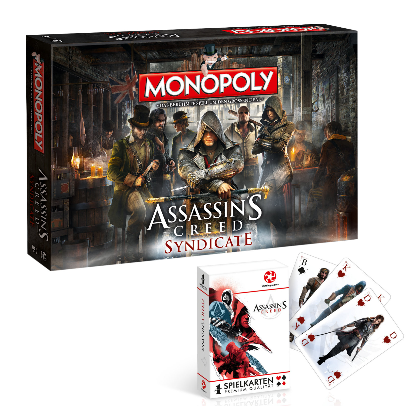 Monopoly Assassin's Creed Syndicate + Kartenspiel
