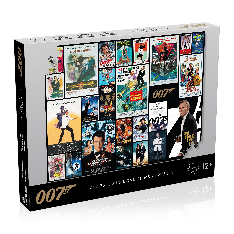 Puzzle - James Bond Movie Poster 1000 - All 25 Bonds - 1 Puzzle