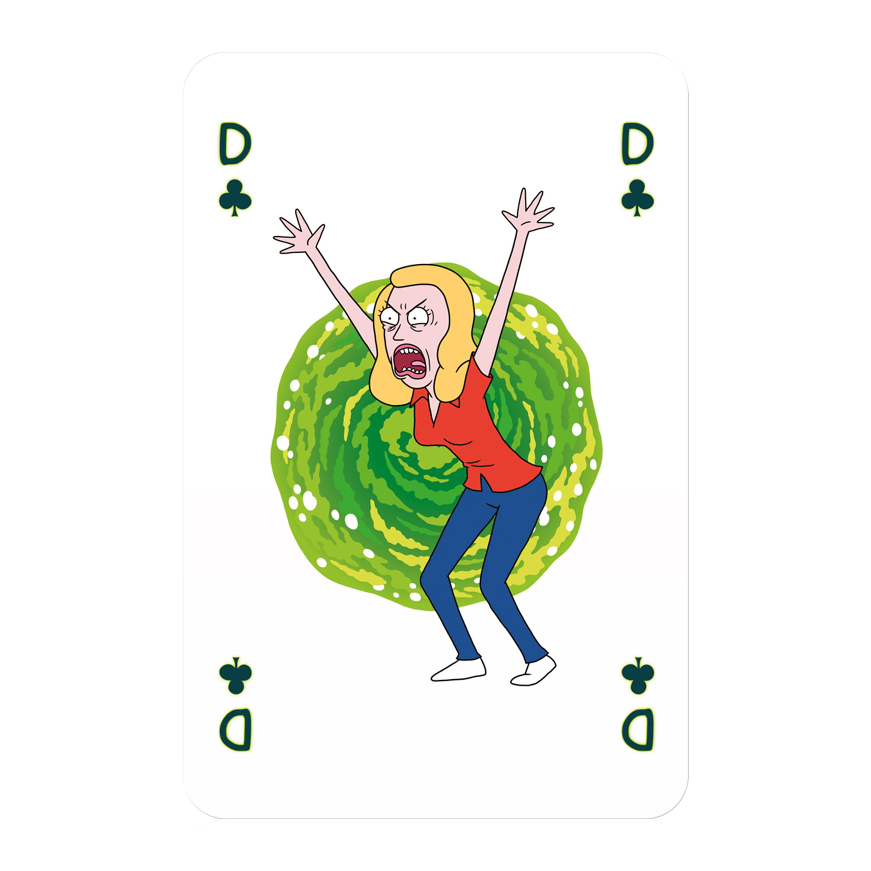 Number 1 Spielkarten Rick and Morty