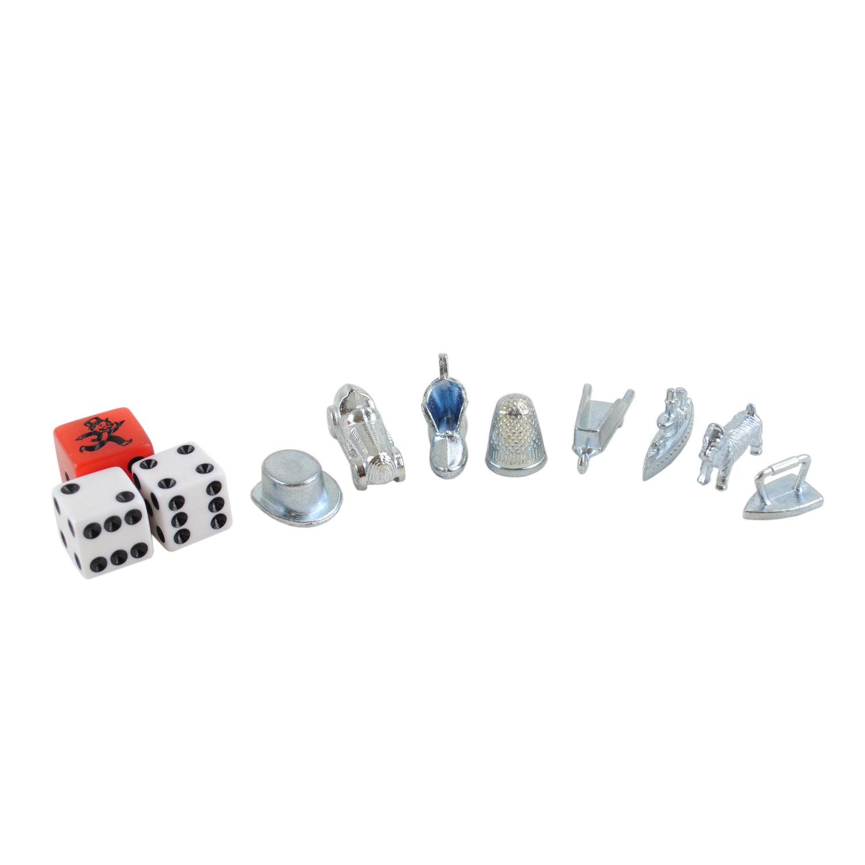 Monopoly Figuren und Würfel (silber, inkl. Tempowürfel)