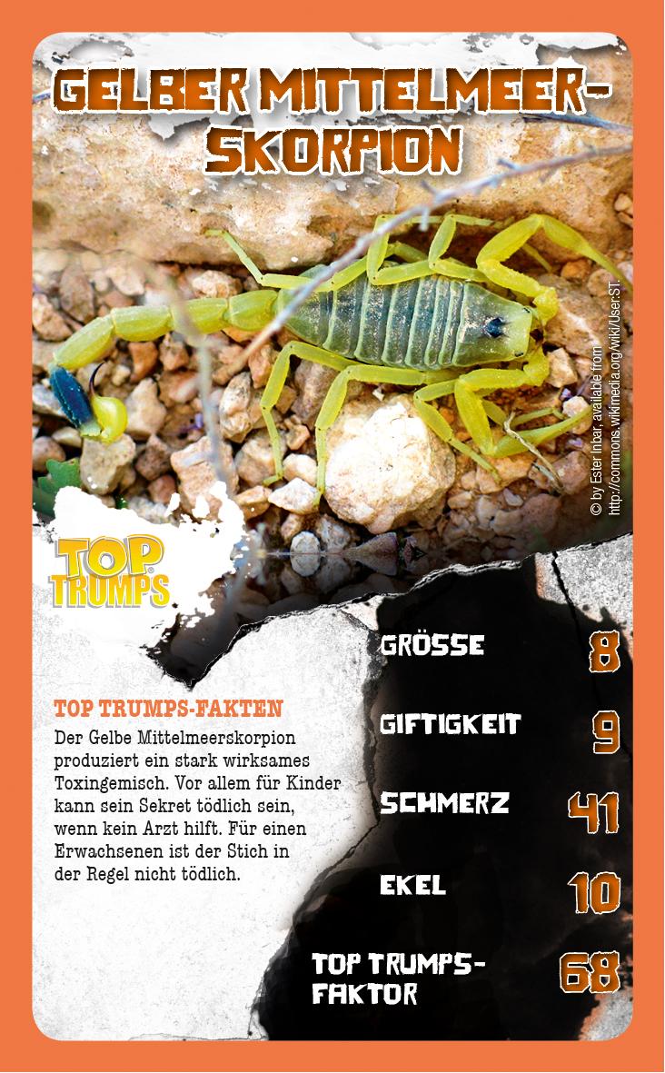 Top Trumps Die 30 giftigsten Tiere