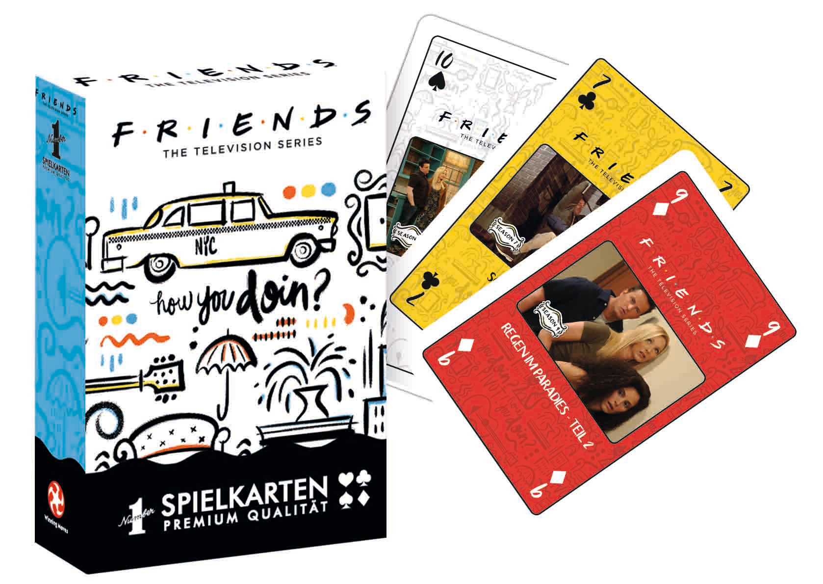 Number 1 Spielkarten Friends