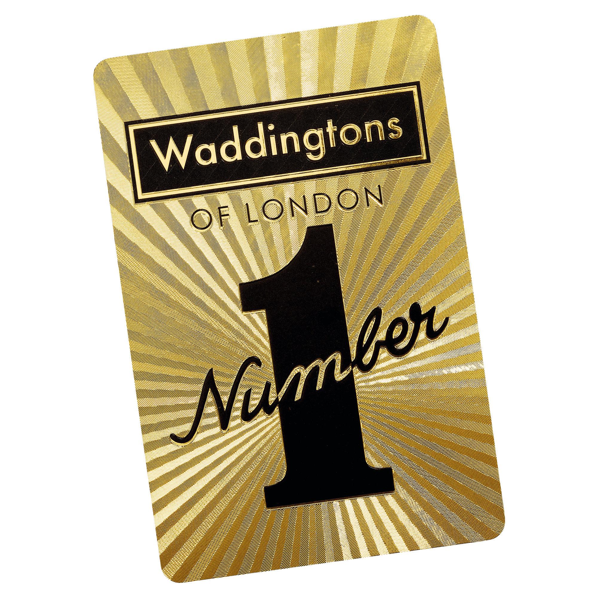 Number 1 Spielkarten Gold Edition