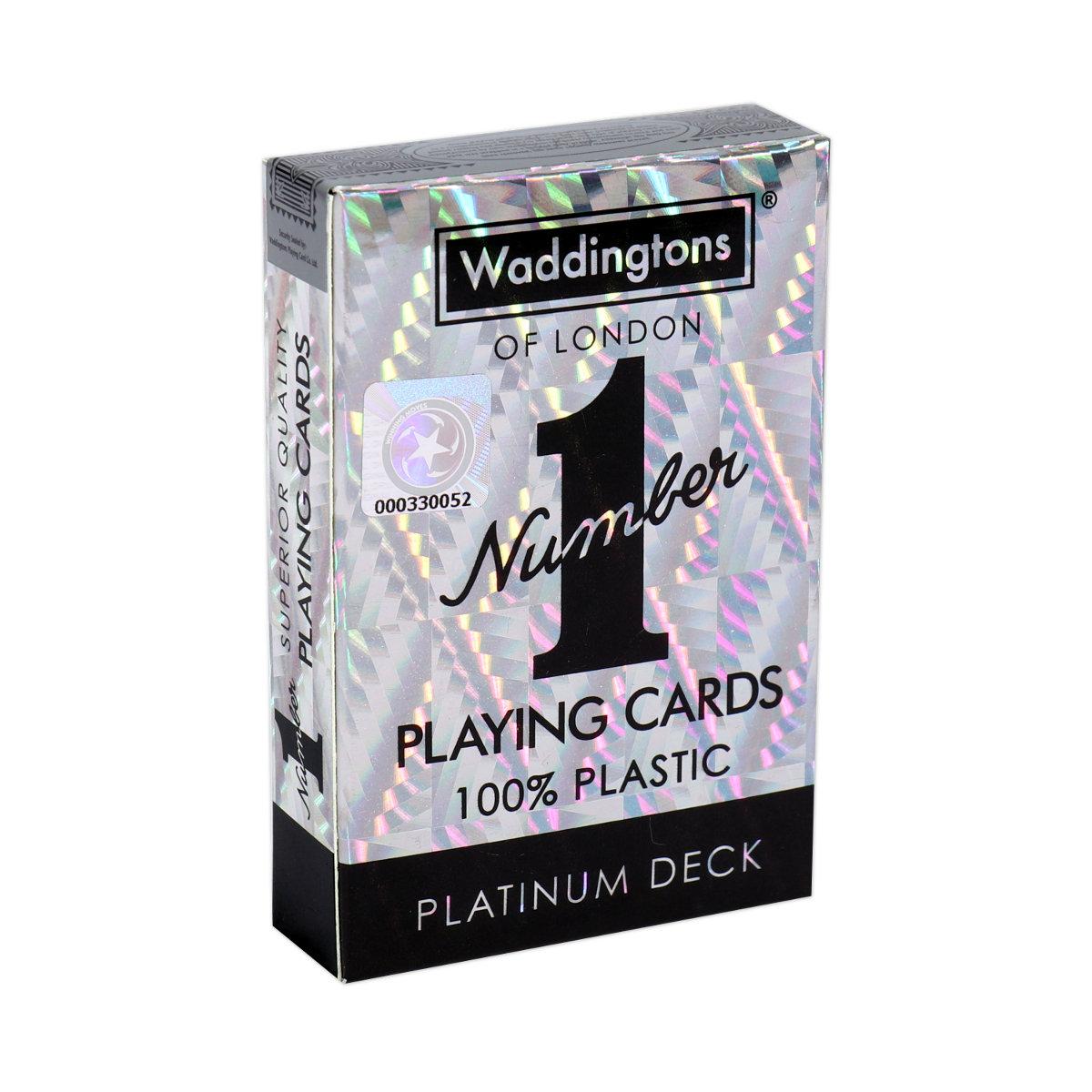 Number 1 Spielkarten Platinum
