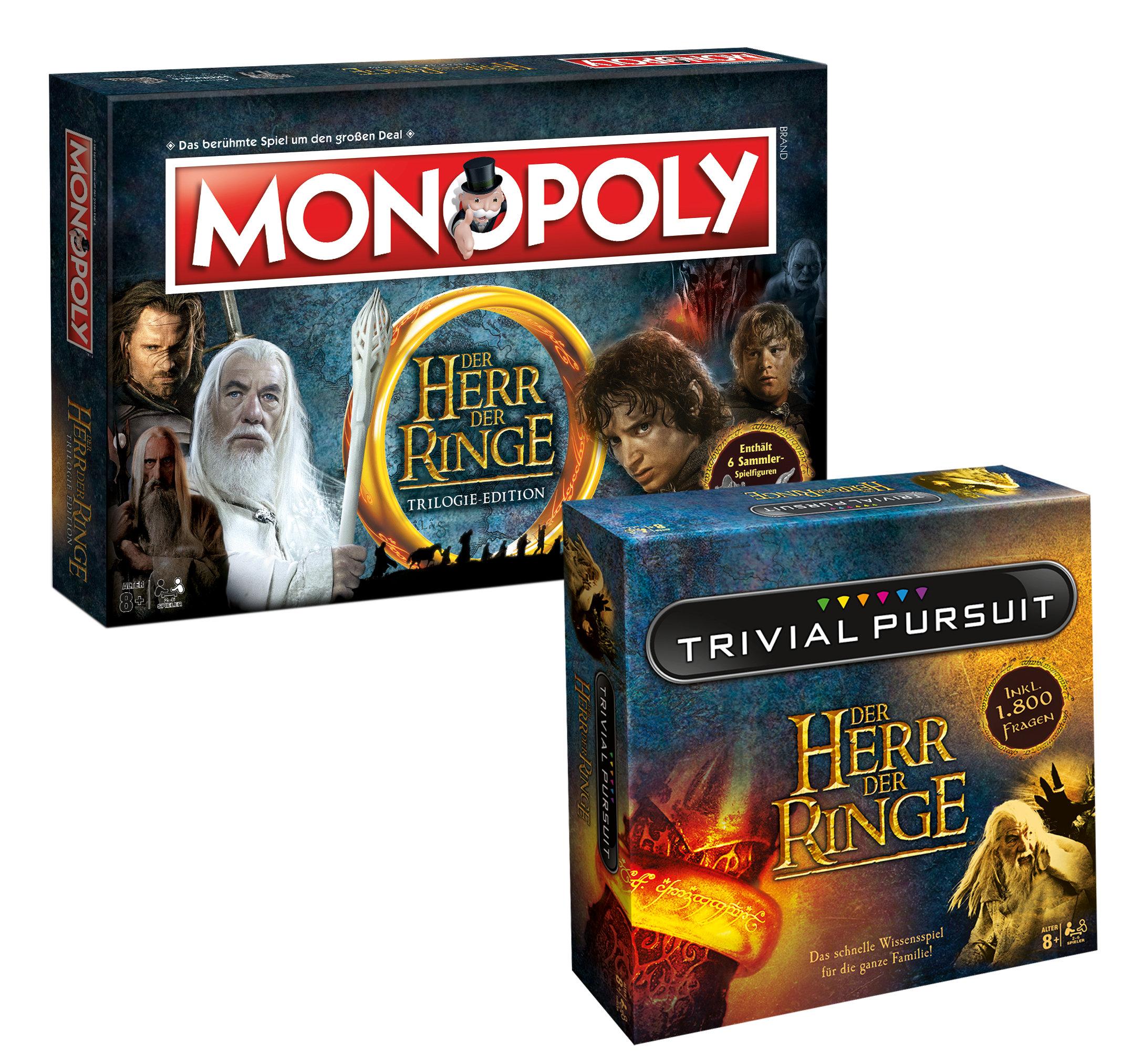 Trivial Pursuit Herr der Ringe Collector's Edition + Monopoly Bundle