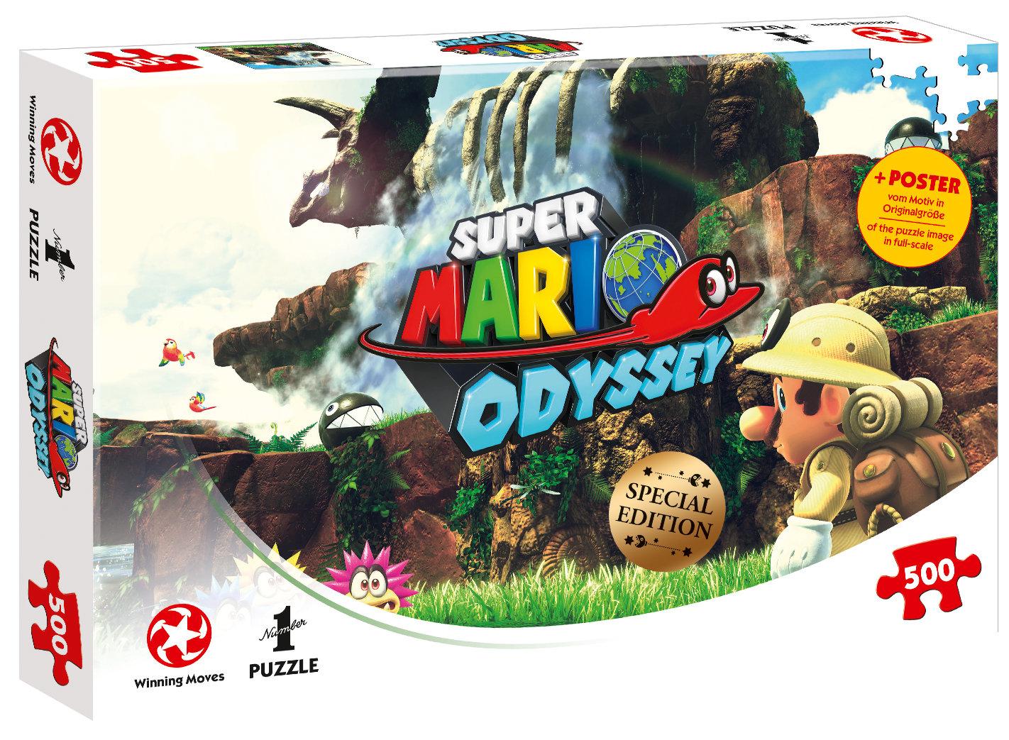 Puzzle Super Mario Odyssey Fossil Falls 500 Teile