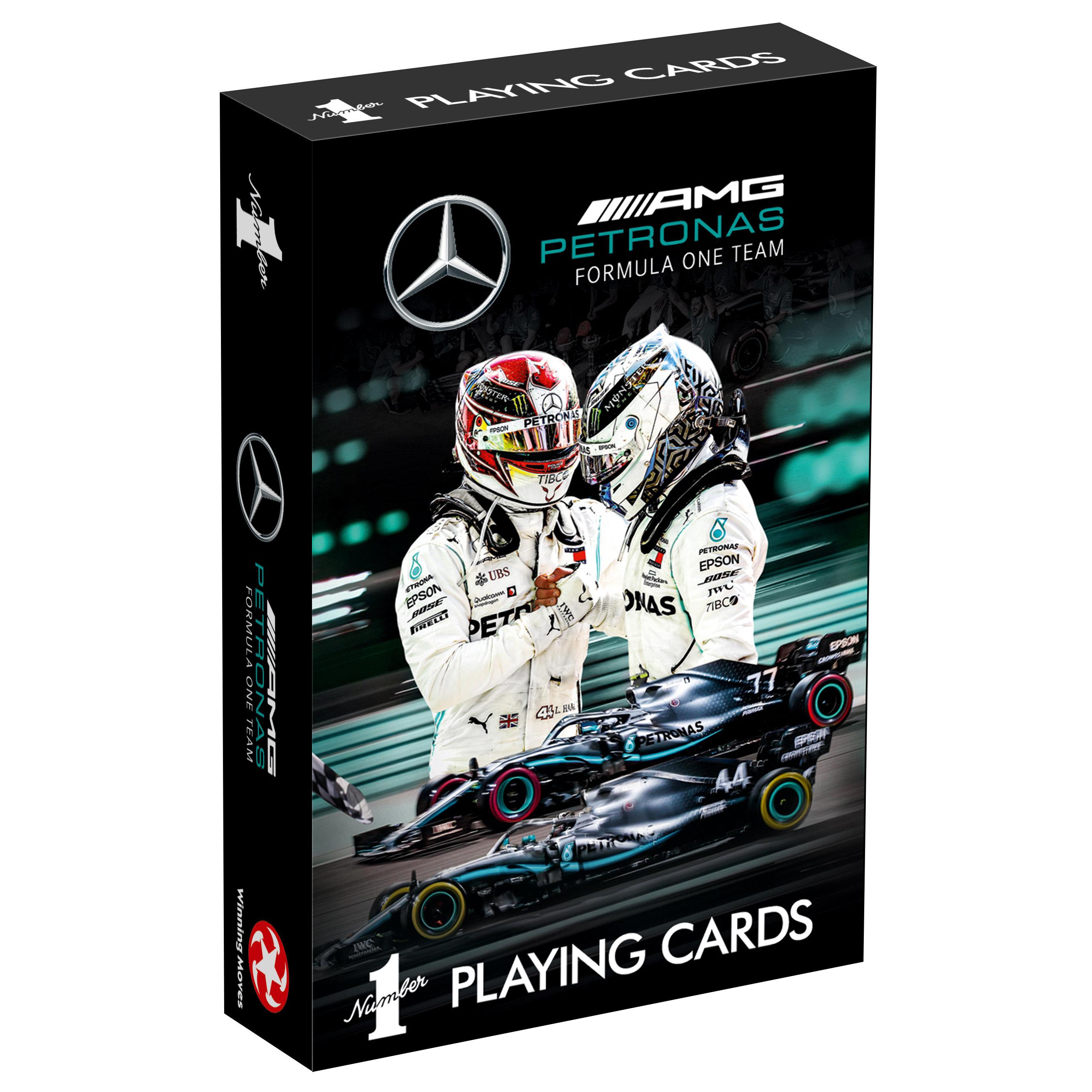 Number 1 Spielkarten Mercedes AMG Petronas Motorsport