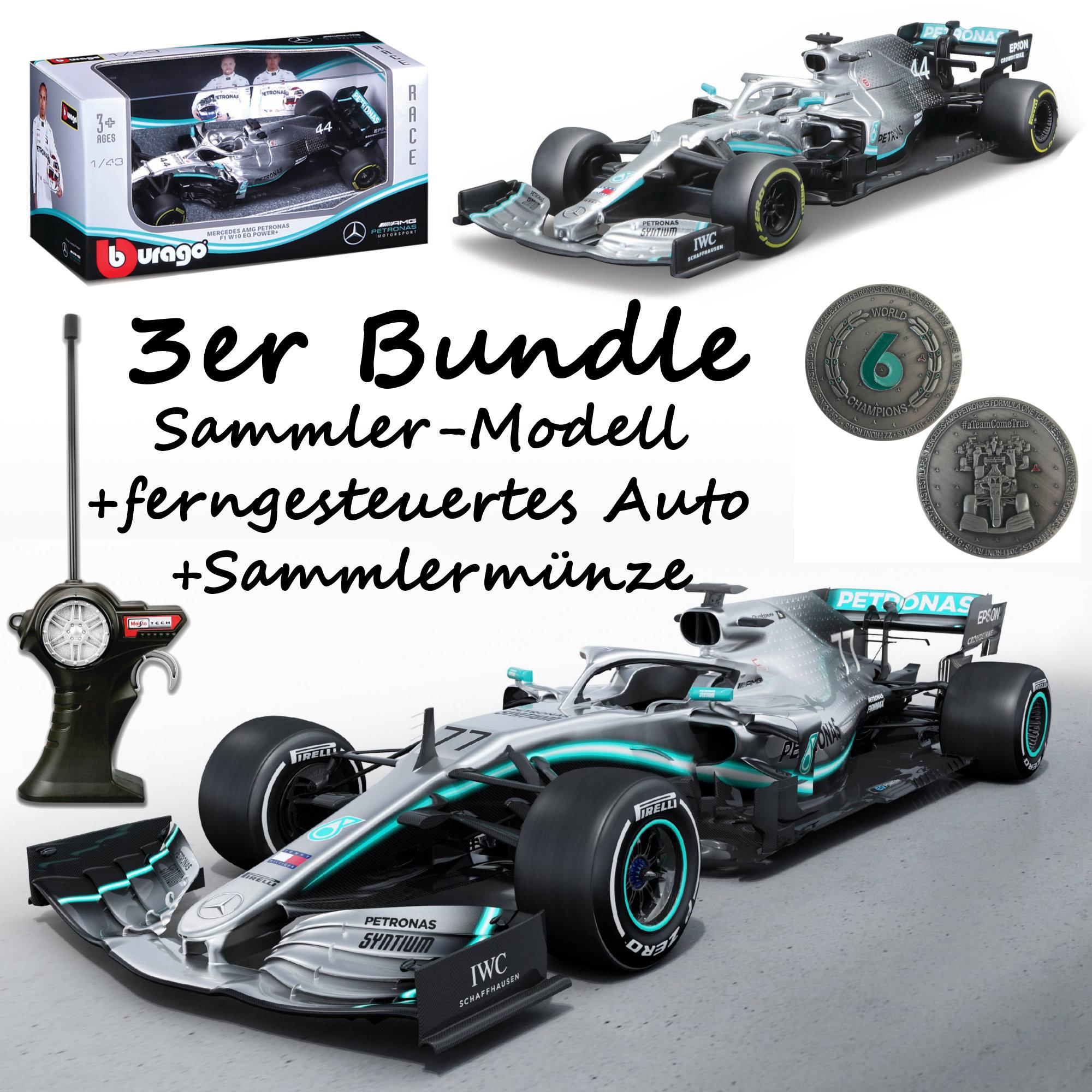 F1 Mercedes AMG Petronas Bundle - 1x R/C Modell + 1x Sammlermodell + Sammlermünze