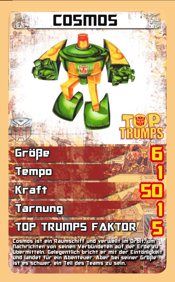 Top Trumps Transformers Retro