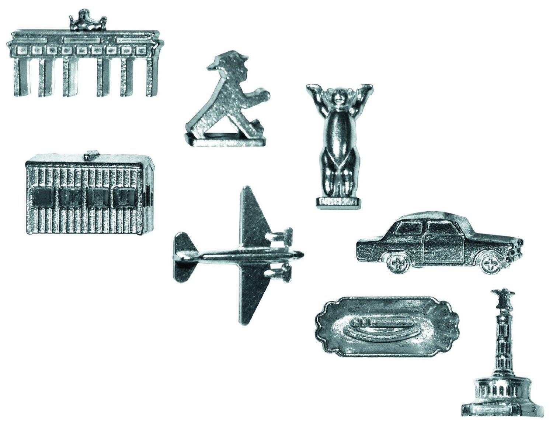 Spielfiguren Brandenburger Tor, Ampelmann, Checkpoint Charlie, Berliner Bär, Rosinenbomber, Trabbi, Currywurst, Siegessäule