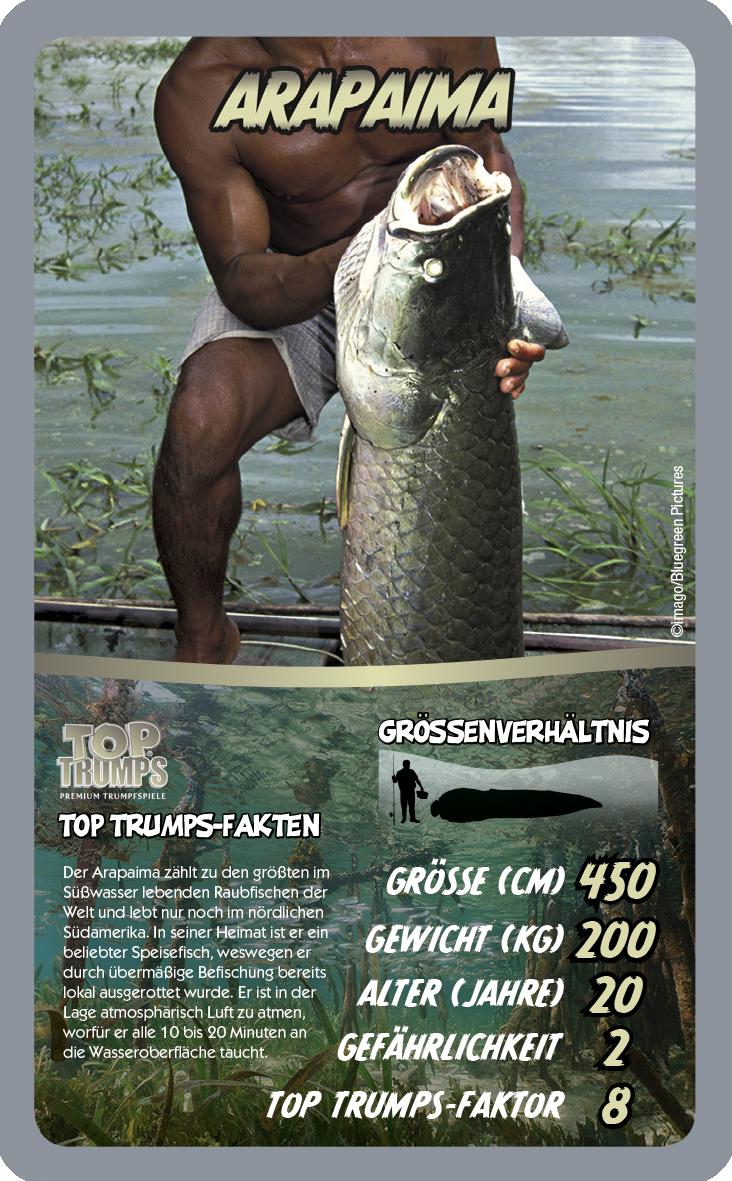 Top Trumps Die 30 gefährlichsten Flussmonster