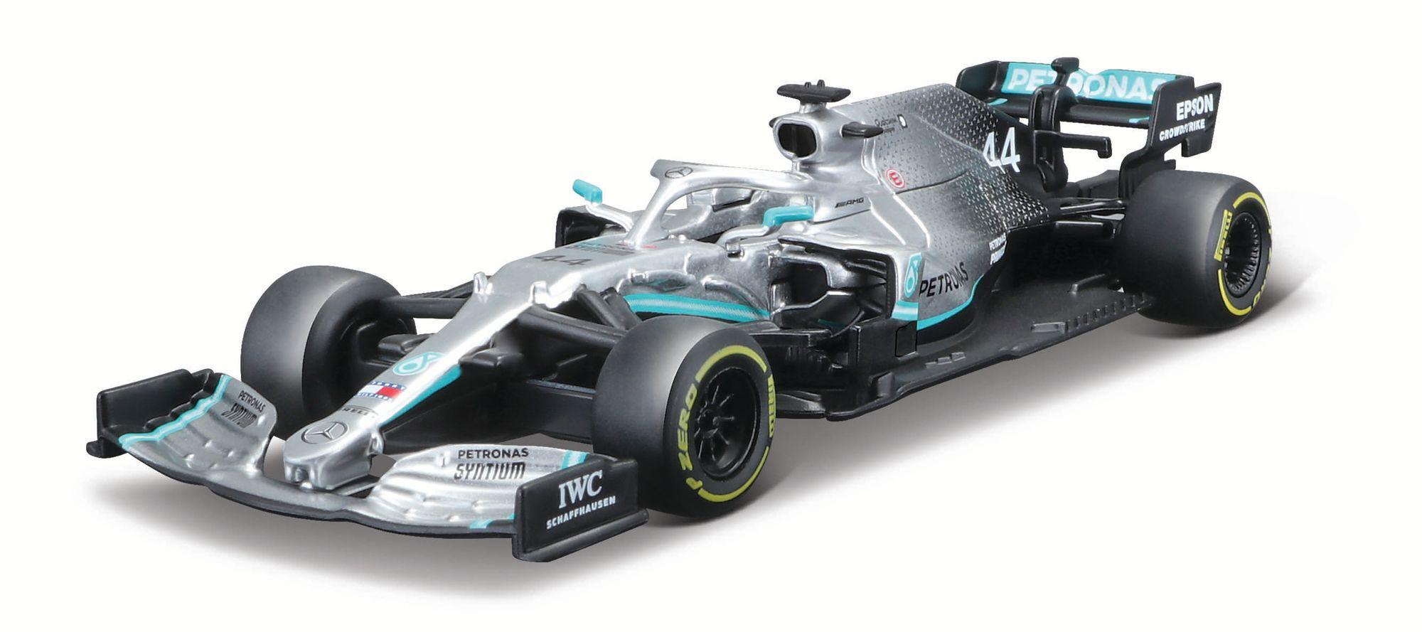 BBurago Mercedes AMG Petronas F1 W10 EQ Power+ Hamilton Modellauto (Maßstab 1:43)