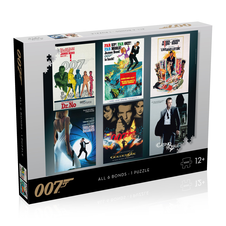 James Bond Puzzle - 1000 pieces - All Debut Posters - All 6 Bonds - 1 Puzzle