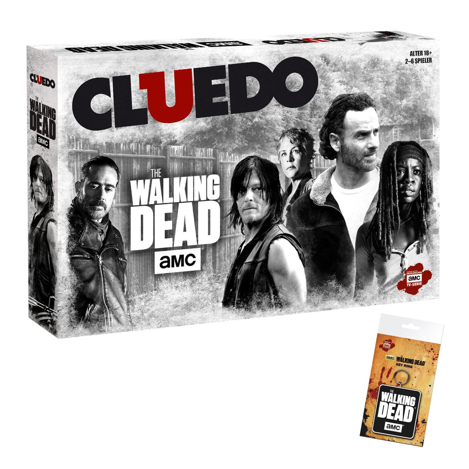 Cluedo The Walking Dead AMC mit Schlüsselanhänger
