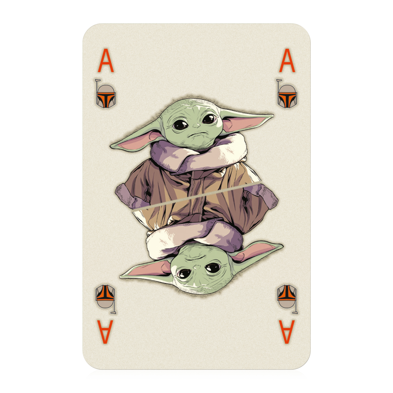Number 1 Spielkarten Mandalorian Baby Yoda
