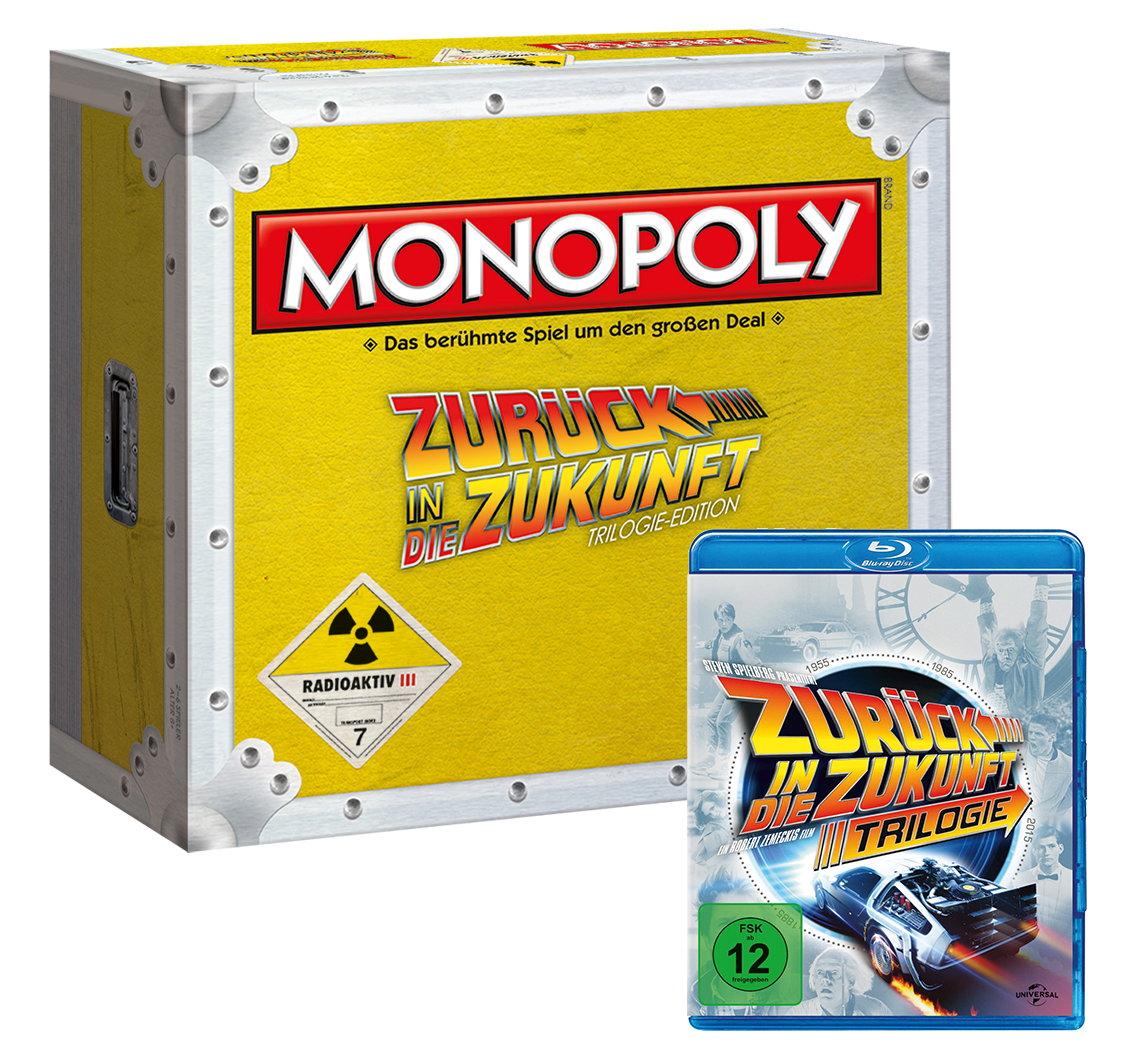 Spielkarton mit Hochglanz Design & Blu-Ray Trilogie